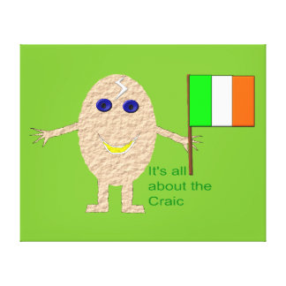 Patriotic Irish Egg Canvas Print