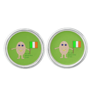 Patriotic Irish Egg Cufflinks