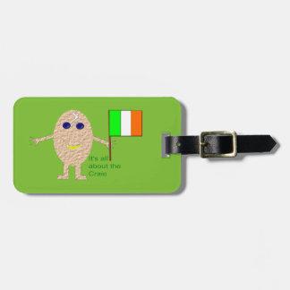 Patriotic Irish Egg Custom Luggage Tag