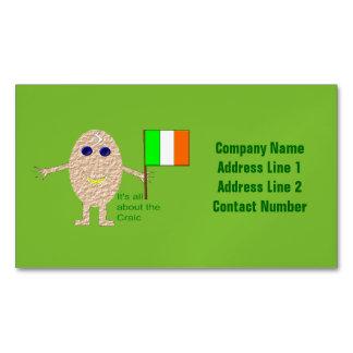 Patriotic Irish Egg Custom Magnetic Business Cards