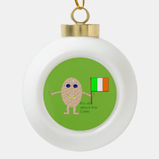 Patriotic Irish Egg Ornament