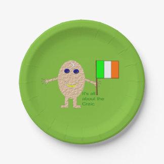 Patriotic Irish Egg Paper Party Plates