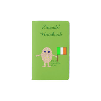 Patriotic Irish Egg Personalized Pocket Moleskine Notebook
