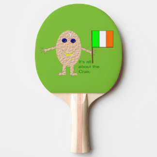 Patriotic Irish Egg Ping Pong Paddle