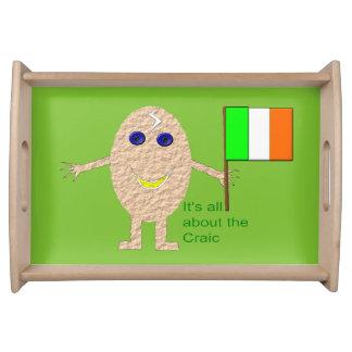 Patriotic Irish Egg Serving Tray