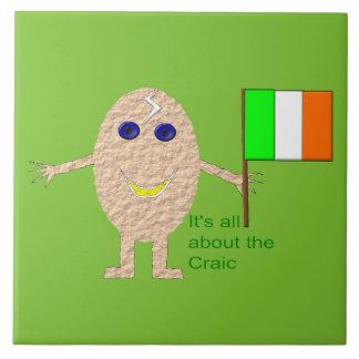 Patriotic Irish Egg Tile