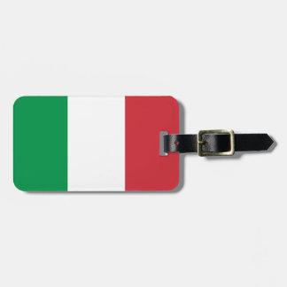 Patriotic Italian Flag Luggage Tag