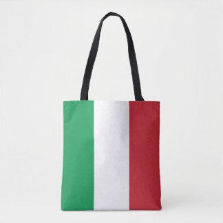 Patriotic Italian Flag Tote Bag