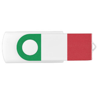 Patriotic Italian Flag USB Flash Drive