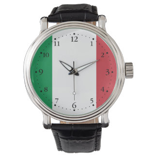 Patriotic Italian Flag Wristwatch