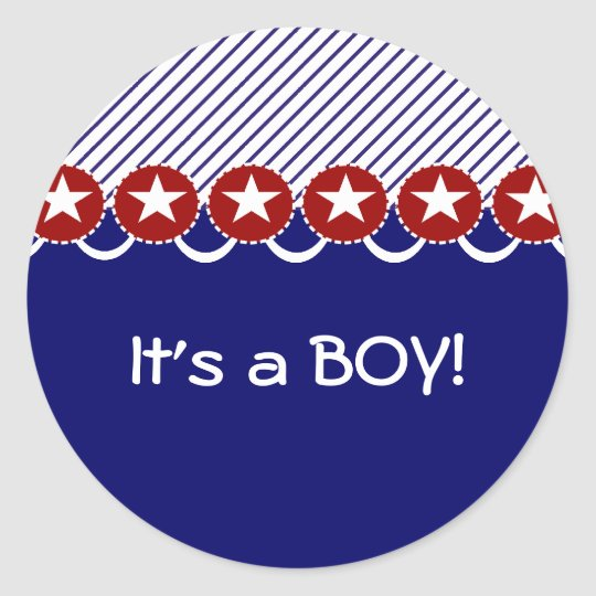 Patriotic It's a Boy Stickers