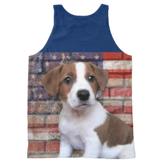 Patriotic Jack Russell dog all over print tank top All-Over Print Tank Top