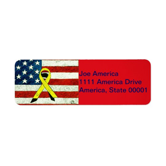 Patriotic Joe Return Address Label