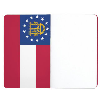 Patriotic journal with Flag of Georgia