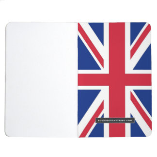 Patriotic journal with Flag of United Kingdom
