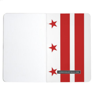 Patriotic journal with Flag of Washington DC