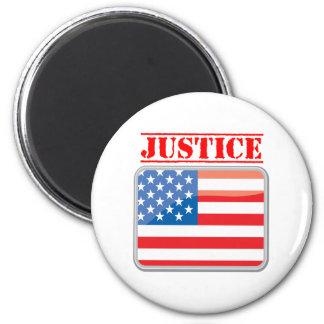 Patriotic Justice for The United States 6 Cm Round Magnet
