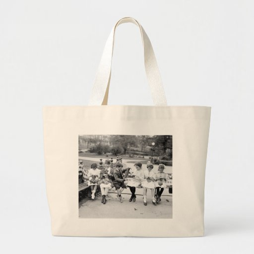 Patriotic Knitting Bee, early 1900s Tote Bag