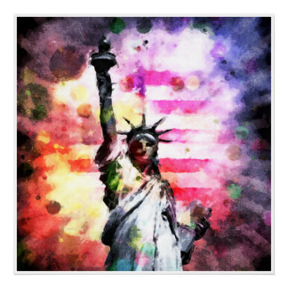 Patriotic Lady of Liberty Poster