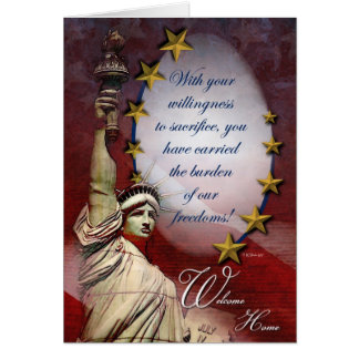 Patriotic Liberty Welcome Home Card Card