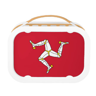 Patriotic lunchbox with Isle of Man Flag, Uk
