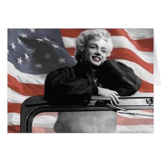 Patriotic Marilyn Card