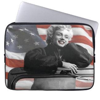 Patriotic Marilyn Laptop Sleeve