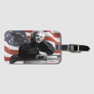 Patriotic Marilyn Luggage Tag