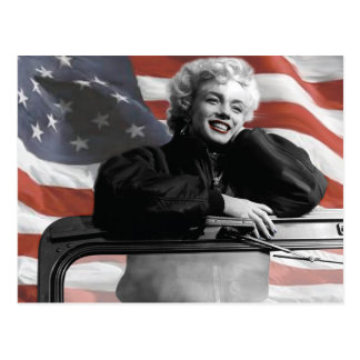 Patriotic Marilyn Postcard