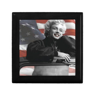 Patriotic Marilyn Small Square Gift Box