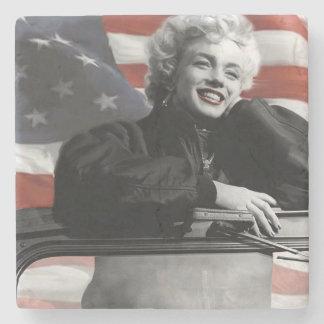 Patriotic Marilyn Stone Coaster