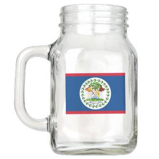 Patriotic Mason Jar with Flag of Belize
