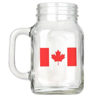 Patriotic Mason Jar with Flag of Canada