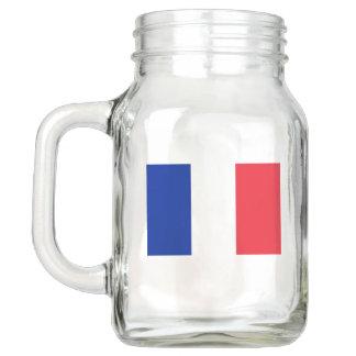 Patriotic Mason Jar with Flag of France