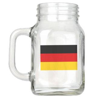 Patriotic Mason Jar with Flag of Germany