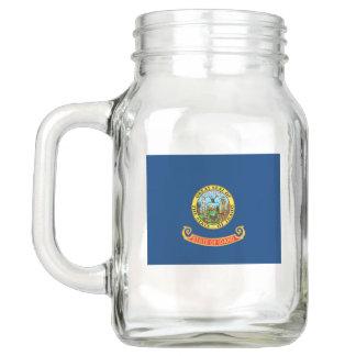 Patriotic Mason Jar with Flag of Idaho, USA
