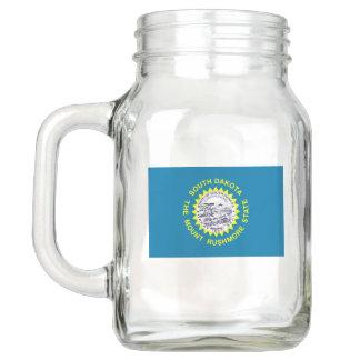 Patriotic Mason Jar with Flag of South Dakota