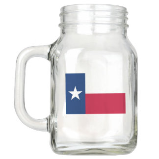 Patriotic Mason Jar with Flag of Texas