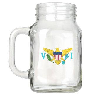 Patriotic Mason Jar with Flag of Virgin Islands