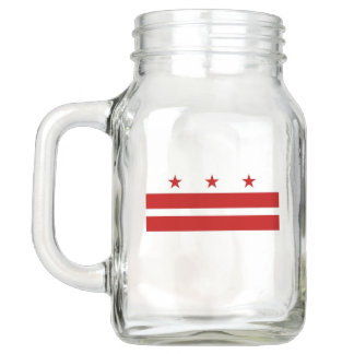 Patriotic Mason Jar with Flag of Washington DC