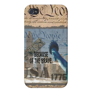 PATRIOTIC MEMORIAL 9-11-01 USA FREE BCOF THE BRAVE iPhone 4/4S COVERS
