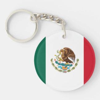Patriotic Mexican Flag Key Ring
