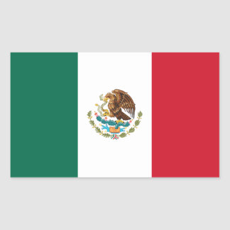 Patriotic Mexican Flag Rectangular Sticker