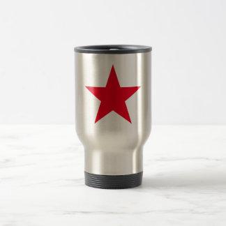 Patriotic Military Army War Red Star Symbol Sign Travel Mug
