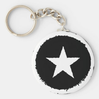 Patriotic Military Army War White Star Symbol Sign Key Ring