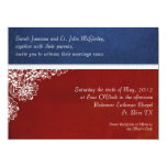 Patriotic Military Floral Wedding Oversized Invitation