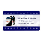 Patriotic Military Love Heart Shipping Label