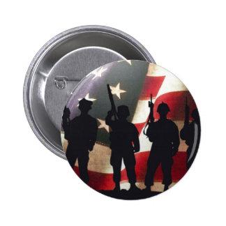 Patriotic Military Soldier Silhouette 6 Cm Round Badge