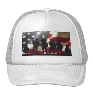 Patriotic Military Soldier Silhouettes Mesh Hats
