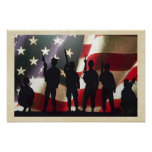 Patriotic Military Soldier Silhouettes Posters